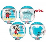 Anagram 16 Inch Mickey 1st Birthday Orbz Balloon