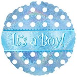 CTI 18 Inch Its A Boy Dots Dazzeloons