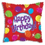 CTI 17 Inch Happy Birthday Bright Balloons