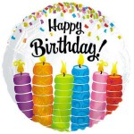 CTI 17 Inch Happy Birthday Colorful Candles