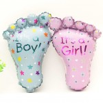 Mytex Baby Girl Boy Foot Mini Foil Balloon ~ 5pcs