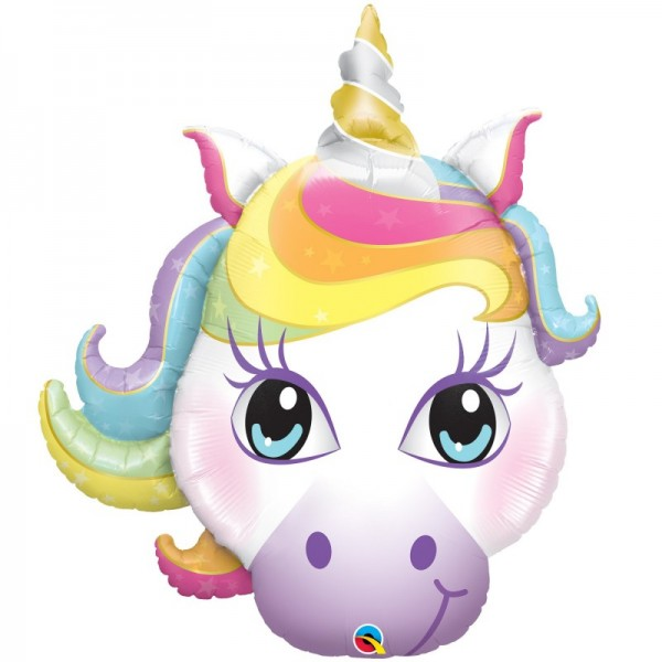 Animals Balloons - Qualatex 38 inch Pastel Magical Unicorn Head