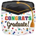 Anagram 18 Inch Square Confetti Graduate