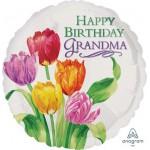 Anagram 18 Inch HBD Grandma Tulip