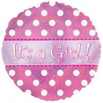 CTI 18 Inch Its A Girl Dots Dazzeloons