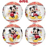 Anagram 16 Inch See Thru Orbz Mickey Mouse Balloon