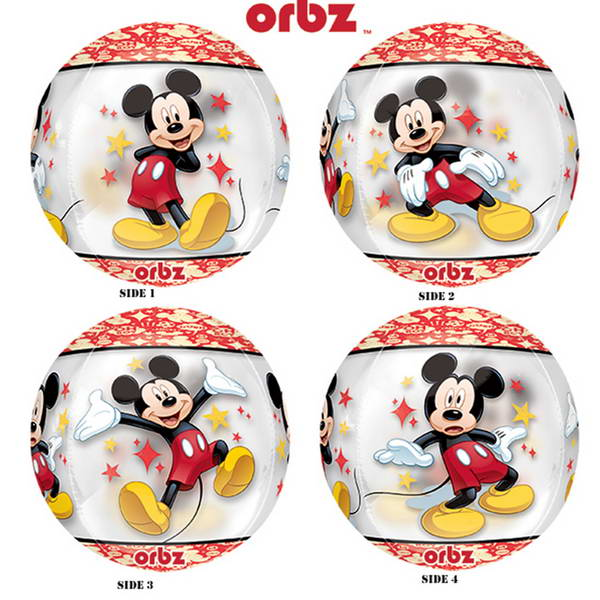 Character Balloons - Anagram 16 Inch See Thru Orbz Mickey Mouse Balloon