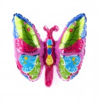 Mytex Colorful Butterfly Mini Foil Balloon ~ 5pcs