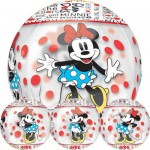 Anagram 16 Inch Orbz Minnie Mouse Clear Balloon