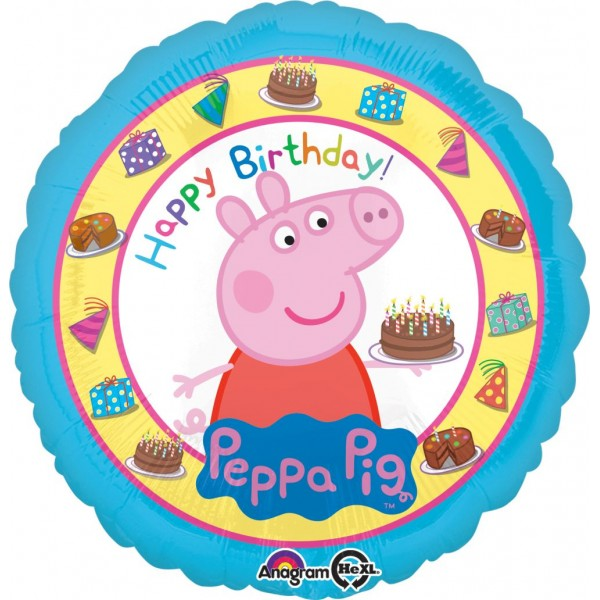 Movies And Cartoons - Anagram 17 Inch Peppa Pig Birthday Balloon