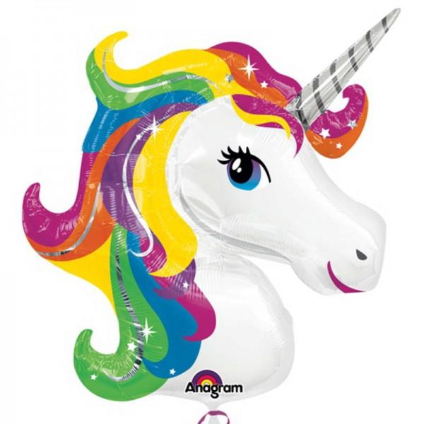Animals Balloons - Anagram 33 inch Rainbow Unicorn SuperShape Balloon