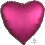 Anagram 17 inch Pomegranate Satin Heart Foil Balloon
