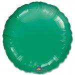 Anagram 18 inch Metallic Dark Green Round Foil Balloon