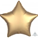 Anagram 19 inch Satin Luxe Gold Sateen Star Foil Balloon