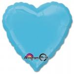 Anagram 17 inch Caribbean Blue Heart Foil Balloon