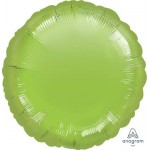 Anagram 18 Inch Lime Green Round Foil Balloon