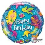 Qualatex 18 Inch Birthday Mermaids Foil Balloon