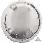 Anagram 18 Inch Metallic Silver Round Foil Balloon