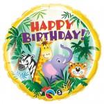 Qualatex 18 Inch Birthday Jungle Friends Foil Balloon