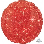 Anagram 17 Inch Faux Sparkle Red Foil Balloon
