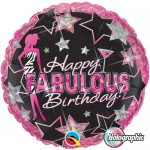 Qualatex 18 Inch Birthday Fabulous Foil Balloon