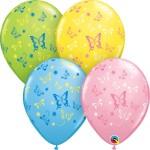 Qualatex 11 Inch Colorful Butterflies Latex Balloons ~ 10pcs