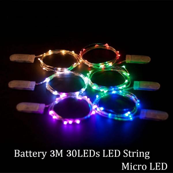 LED Light - Micro 3 Meter LED String Light For Balloon Deco~ 30 LED