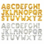 "Betallic 40"" Inch Gold/Silver Alphabets Giant Letter Foil Balloons A-Z"