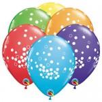 Qualatex 11 Inch Confetti Dots Assorted Latex Balloons ~ 10pcs