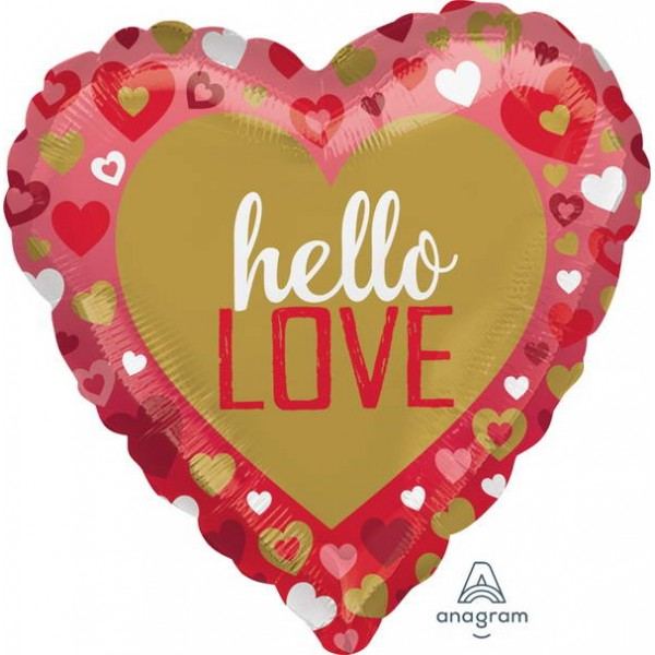 Love & Affection - Anagram 17 Inch Hello Love Foil Balloon