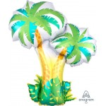 Anagram 34 Inch Foil Shape Tropical Palm Trees