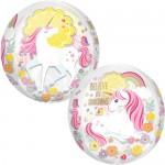 Anagram 16 Inch Clear Orbz Magical Unicorn Balloon