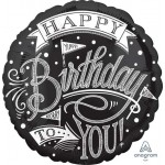 Anagram 18 Inch Hooray It is Your Birthday Chalkboard Balloon