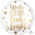 Anagram 18 inch Your Future Looks Bright Foil Balloon