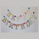 Mytex Happy Birthday Shinning Silver With Dots Banner