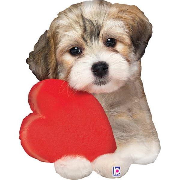 Love & Affection - Betallic 29 Inch Adorable Puppy Love Balloon