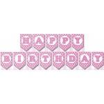 Mytex Happy Birthday Polka Dots Pink Banner