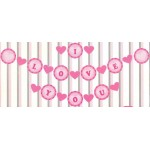 Mytex I Love You With Hearts Pink Banner