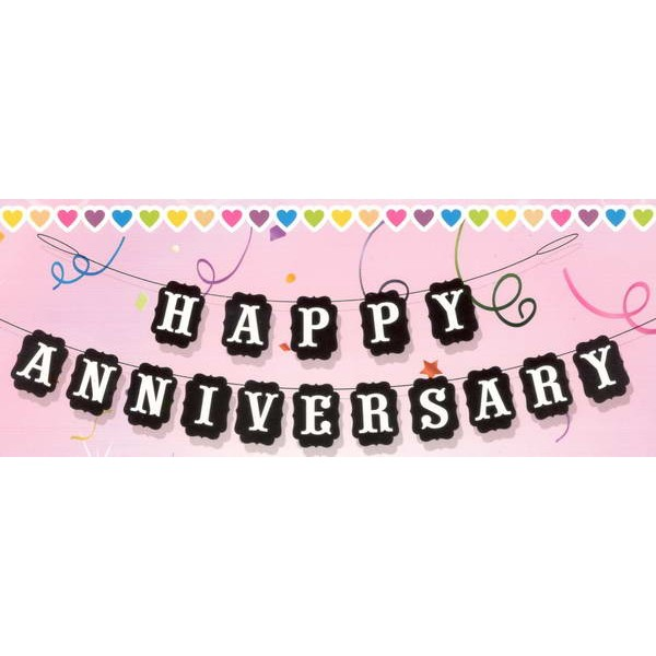mytex happy anniversary white wording black banner from category