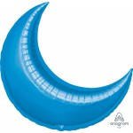 Anagram 35 Inch Blue Crescent Moon Decorator