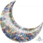 Anagram 35 Inch Holo Fireworks Crescent Moon Decorator