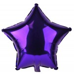 Mytex 18 Inch Star Purple ~ 5pcs
