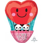 Anagram 17 Inch Panda Love Hotair Balloon