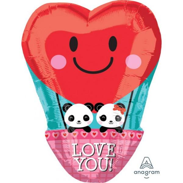 Love & Affection - Anagram 17 Inch Panda Love Hotair Balloon
