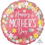 Anagram 28 Inch Happy Mothers Day Floral Wreath Supershape