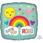 Anagram 18 Inch Love You Mom Rainbow