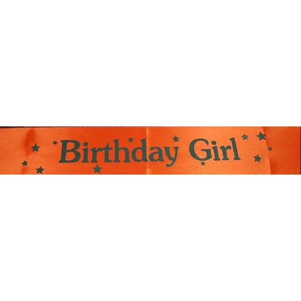 Sash - Birthday Girl Red Satin Sash