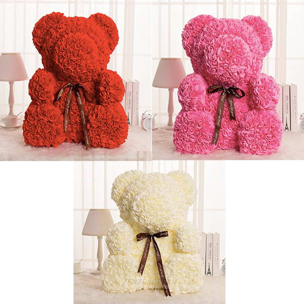 Others - Handmade Rose Bear - The Best Gift