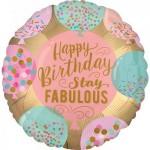 Anagram 17 Inch Stay Fabulous Happy Birthday