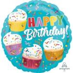 Anagram 18 Inch Cupcake Fun Foil Balloon